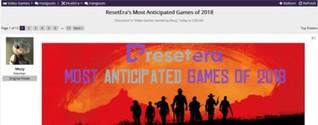 国外知名玩家社区2018最期待游戏 《荒野大镖客2》依然登顶