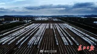 武汉数百列动车组准备就绪
