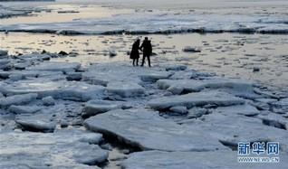 #(环境)(1)渤海大连北部海域现极地冰原景观