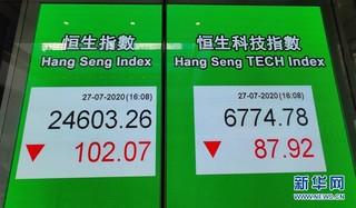 (港澳台·图文互动)港股正式推出恒生科技指数