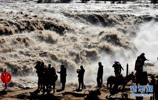 #(环境)(3)黄河壶口出现数百米大瀑布