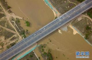 (图文互动)(2)永定河河北省廊坊段干涸25年后首次通水