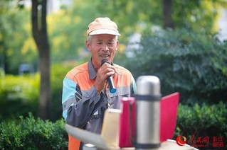 宁波一环卫工唱歌直播 半年吸粉近4万(组图)【2】