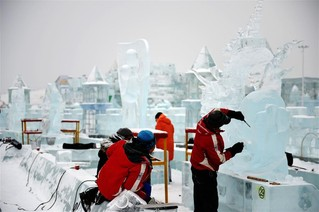(文化)(4)第32届中国哈尔滨国际冰雕比赛落幕