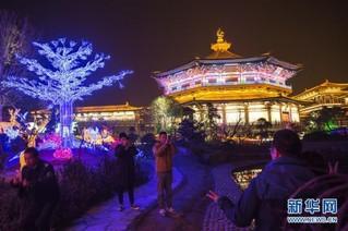#(社会)(2)湖北襄阳:流光溢彩迎新春