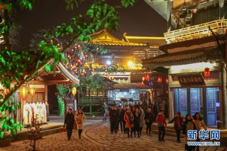 #(社会)(5)湖北襄阳:流光溢彩迎新春