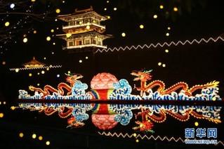#(社会)(1)湖北襄阳:流光溢彩迎新春