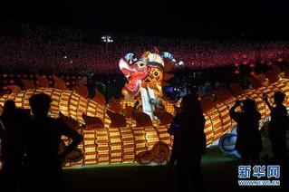 (文化)(1)香港举办中秋彩灯会