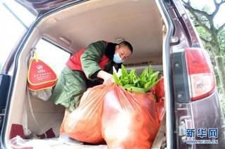 (聚焦疫情防控)(5)重庆:疫情下的乡村蔬菜配送小队