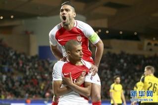 (体育)(2)足球——欧冠:摩纳哥队晋级四强