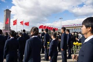 (XHDW)(4)烈士纪念日向人民英雄敬献花篮仪式在京隆重举行