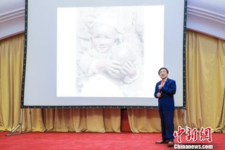 杨绍明回顾自己的摄影之路 主办方供图 摄