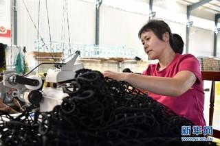 (经济)(1)山东惠民:绳网产业助增收