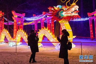 (国际)(4)中国彩灯节在莫斯科开幕