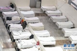 (聚焦疫情防控)(2)武汉首个方舱医院开始收治病人