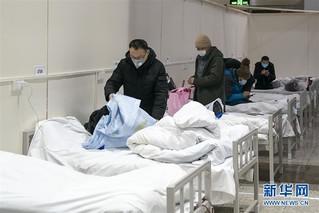 (聚焦疫情防控)(8)武汉首个方舱医院开始收治病人