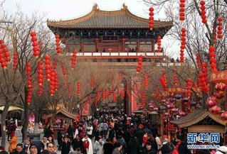 (社会)(1)河南:春节假期旅游收入逾180亿元