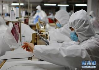 (聚焦疫情防控)(1)福建莆田:加紧复工生产 确保防疫物资供应