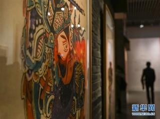 """(文化)(2)""""迎春送福——武强年画专题展""""在国家典籍博物馆开展"""