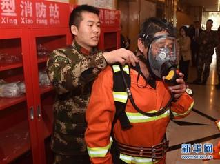 (社会)青岛:微型消防站进酒店