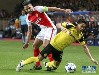 (体育)(7)足球——欧冠:摩纳哥队晋级四强