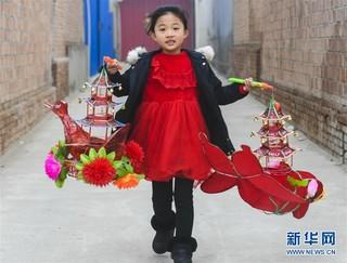 (经济)(3)河北永清:扎灯笼 迎新年