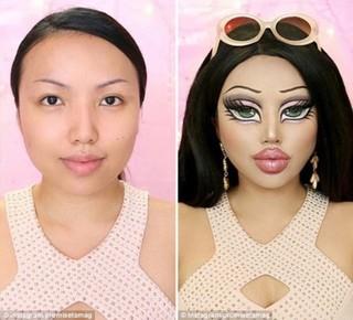 惊艳!化妆师凭借高超技艺变身真人贝兹娃娃