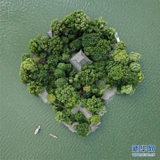 (美丽中国)(3)鸟瞰西湖美景
