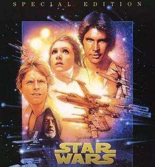 1977年上映的《星球大战》第一部海报 图片来源:豆瓣电影截图