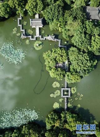 (美丽中国)(2)鸟瞰西湖美景