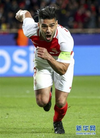 (体育)(4)足球——欧冠:摩纳哥队晋级四强