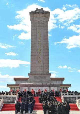 (XHDW)(1)烈士纪念日向人民英雄敬献花篮仪式在京隆重举行