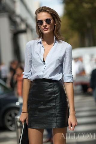 用这6种穿法让你的基础款衬衫1秒变时髦