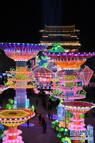 (社会)(4)山西大同:古都灯会耀新春