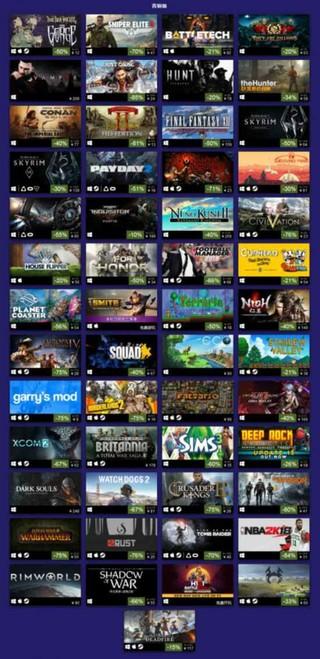 Steam夏促今日结束 2018上半年热销排行榜公布