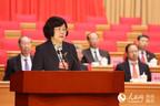 省政协副主席陈莉向大会报告提案工作情况
