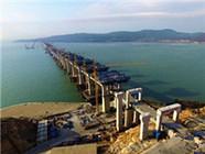 中国首座跨海峡两用大桥完成桩基施工