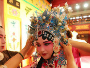 海外华裔青少年感受京剧魅力