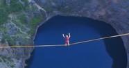 航拍奥地利超胆侠250米高空走扁带