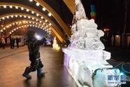中国冰雕亮相莫斯科
