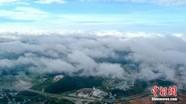 贵州安龙现云海景观