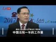 陈志远:中国法院一年的工作量