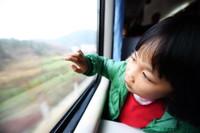 """""""小候鸟""""王心彤在福州客运段值乘的K4186次火车上望着窗外的风景(1月13日摄)。  新华社记者林善传摄"""