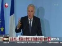 """法国外长:美国驻以使馆迁往耶路撒冷将是""""挑衅"""""""