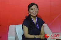 天津生态城管委会副巡视员接受人民网专访 初梓瑞摄