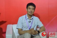 罗克佳华科技集团董事长李玮在接受人民网专访 人民网初梓瑞摄