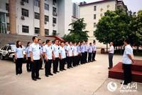 6月10日早上五点,汤阴法院开展集中执行活动。