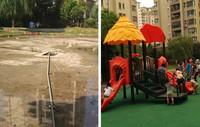 南京市天润城八街区中心花园改造前后对比