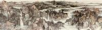张风塘 单明波 薛波 相瑞军 崂山揽胜(局部) 中国画 145×10000cm 2015-2017年
