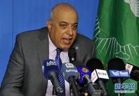 10月22日,在苏丹喀土穆,联合国和非洲联盟驻苏丹达尔富尔联合特派团(联非达团)联合特别代表伊萨在新闻发布会上讲话。
